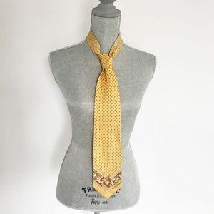 Authentic Men's Gianni Versace Yellow Tie